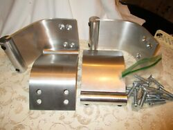 4 Thick Aluminum Legs Curved Modern for Sofa 2 Tier Coffee Table Dresser Set $55.00