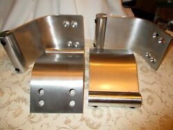 4 Thick Aluminum Legs Curved Modern for Sofa 2 Tier Coffee Table Dresser Set $47.00