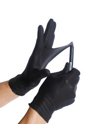 BLACK Nitrile Gloves ULTRA DURABLE S M L XL Powder free 50 100 1000 Case $18.95