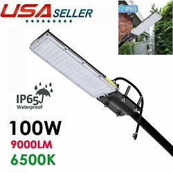 100W Commercial LED Street Light Outdoor Garden Yard Road Lamp 110V US IP65