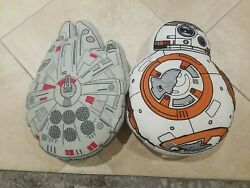 Pottery Barn Kids Star Wars Decorative Pillows Droid Spaceship $27.50