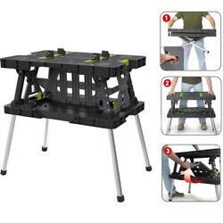 Keter Folding Work Table with Mini Clamps $89.97