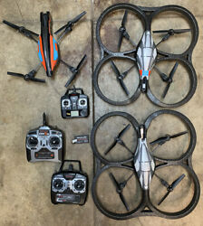 AR Parrot Drone bundle of 3 drones w remote controls AS IS $99.00
