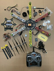 DJI F550 GPS Drone w NAZA GPS remote gimbal zenmuse H3 2D lights AS IS $245.00