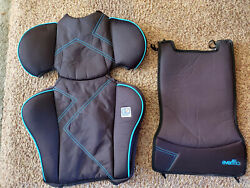 Evenflo Amp High Back Booster REPLACEMENT Seat Cover Cushion Part Blue Black $9.99