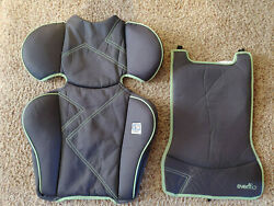 Evenflo Amp High Back Booster REPLACEMENT Seat Cover Cushion Part Gray Green $9.99