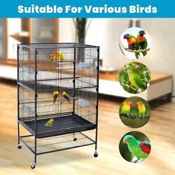 Prevue Pet Large Wrought Iron Flight Cage With Stand Black 31lx20dx52h Inches $109.64