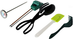 Worm Farm Accessory Kit For Red Wiggler Composting Bins Moisture Meter Thermom $47.99