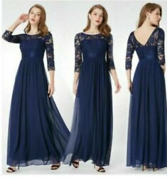 Ever Pretty Long Lace Evening Gown Mother Of Bride Dress US Size 8 $44.99