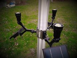 Extreme Commercial Solar Flagpole Light CREE Fixed Heads * POWERFUL *