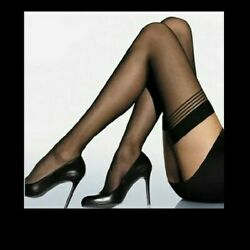 SHEER black women Sexy Lingerie Mesh High Thigh Stockings Pantyhose christmas