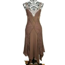 Boho Bohemian Dress Size Small Casting Womens Brown Casual Hippie Flowing fitted $25.00