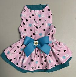 Dog Harness Dress Double Ruffles With Bow Size: 8 Small Plus $18.99