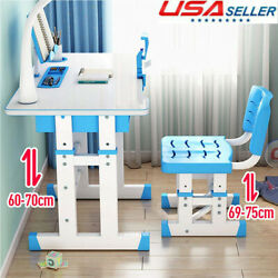Student Desk and Chair Set Adjustable Child Study with Lamp Storage Furniture US $111.16