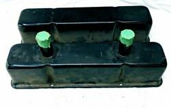 Black Painted Circle Track Valve Covers Breather Tube Dirt Small Block Chevrolet $20.39