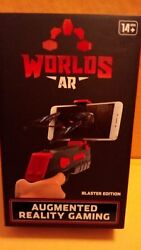 Worlds AR Augmented Reality Gaming RED Blaster Pro Edition New in box 14 yrs $11.00