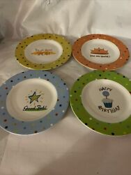 """Set Of 4 Cypress Home Plates """"Special Occasion"""" 6.5"""" Plates Melamine $15.00"""