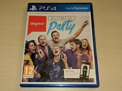 SINGSTAR ULTIMATE PARTY for Playstation 4 Game ONLY Read Description $24.99