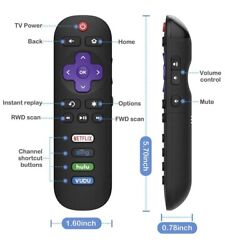 TCL Roku Smart TV Replacement Remote with Volume Control RC280 $10.95
