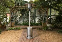 Fire Sense Gray Commercial Patio Heater with Wheels 46000 BTU Brand New