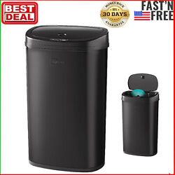 Trash Can Garbage Touchless Sensor Automatic Stainless Steel Kitchen Waste Black $49.88