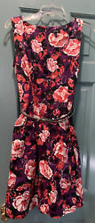 Floral Pink amp; Purple Dress APT9 Size 12 With Pockets $19.99