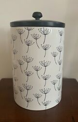 Lenox Around the Table Medium Canister Black amp; White 1st Quality New Without Box $59.99