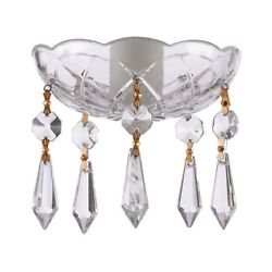 4 Inch Clear Crystal Chandelier Bobeche W icicle Chandelier Crystals Lamp Parts $13.90