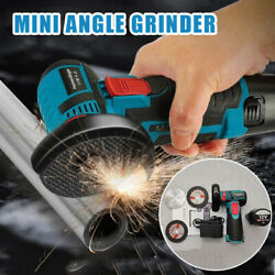 110 220V Mini Brushless Electric Angle Grinder Cordless Cutter with 1pc Battery $74.99