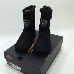 NEW Harley Womens Emmalyn Black Warm Up Boot size 8 AND 6 $42.75