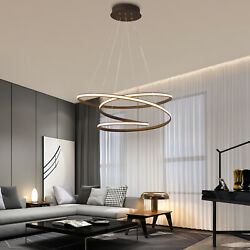 Modern Twist LED Chandelier Acrylic LED Pendant Living Dining Room Hanging Lamps $65.00