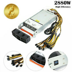 Power Supply For Antminer Two X2 S9 S7 L3 2880W With Harness Cable $62.58
