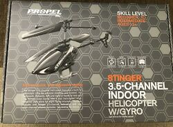 SALE Helicopter Propel RC Stinger 3.5 Channel Indoor Helicopter W GYRO $16.00