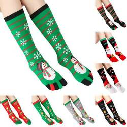Christmas Novelty Funny Santa Print Long Socks Five Toe Socks Family Xmas Gifts $7.69
