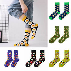 Women Socks Funny Cute Cartoon Fruits Cookie 1Pair Food Skateboard Socks $2.18