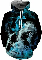 Ahegao Men Women Novelty Pullover Hoodies 3D Realistic Printed Pattern Fashion S $44.67