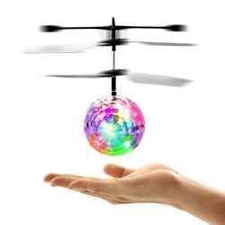 Electric USB Hand Flying UFO Mini Infrared LED RC Drone Helicopter Toy Game $10.08