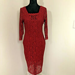 Candie#x27;s Women Red Cocktail Dress L PRE Owned $24.99