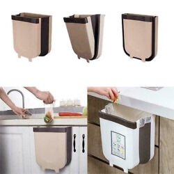 Folding Waste Bin Kitchen Bin Rubbish Door Hanging Trash Garbage Container $23.85