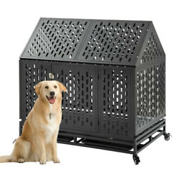 36quot; Heavy Duty Dog Cage Pet Crates with Wheels Removable Tray Steel Dog Nd $304.16