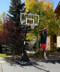 Spalding 54quot; Portable Angled Basketball Hoop with Polycarbonate Backboard $264.00