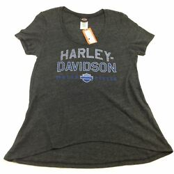 NEW Harley Womens Precision Move Relaxed Fit Short Sleeve T shirt Small $16.15
