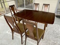 Vintage 1960s Broyhill Style Mid Century Modern Dining Set w Table amp; Chairs $475.00