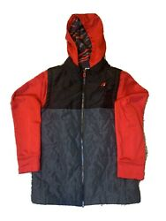 Boy#x27;s Russell Size L Large 10 12 Hoodie Vest Like Long Sleeve Jacket $12.99