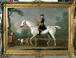 40quot; Hand painted Old Master Art Antique Oil Painting aga horse on Canvas $553.00