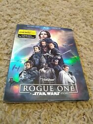 Rogue One: A Star Wars Story Blu ray Disc 2017 3 Disc Set $8.10
