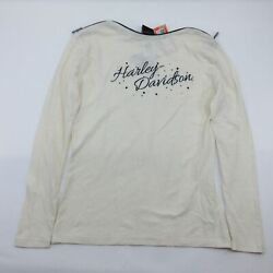 NEW Harley Womens Heavenly Saddle with Shoulder Zippers Off Long Sleeve Small $27.55
