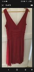 red cocktail dress size 12 GBP 8.50