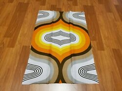 Awesome RARE Vintage Mid Century retro 70s large bright drop print fabric LOOK $23.00