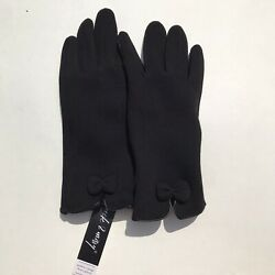 Touchscreen Gloves Women#x27;s Jack and Missy Modern Vintage Gloves Black Bow $14.99